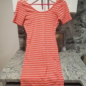 Peach stripe sun dress